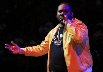 Raekwon, seen here performing during the NBA playoffs, paid tribute to Marvin Gaye on his latest LP, <em>The Wild</em>.