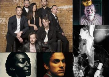 Clockwise from upper left: San Fermin, Puddles Pity Party, Exit Order, Andrew Combs, Ala.ni