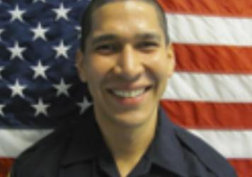 A 2014 photo made available by the North Miami Police Dept., Fla. shows Officer Jonathan Aledda, who shot and wounded therapist Charles Kinsley on Monday, July 18, 2016 in North Miami, Fla.