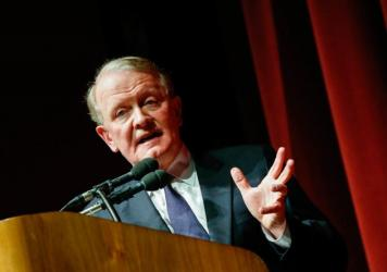 Rep. Leonard Lance, R-N.J., at a town hall meeting at Raritan Valley Community College on Feb. 22.