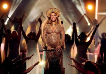Singer Beyoncé at the Grammy Awards in February.