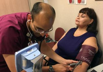 "Ann Mazuca has diabetes and glaucoma that can be aggravated by high blood pressure. The support shown by clinic staff at the University Family Health Center Southeast, in San Antonio, helps her do what's needed to reduce hypertension, she says. ""The fact"