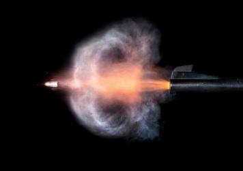 Firearms using lead ammunition spray lead dust out of the muzzle and ejection port when fired.