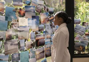 Amandla Stenberg stars in <em>Everything, Everything,</em> a complicated love story between a teenaged girl unable to leave her home because of a rare illness, and her new next-door neighbor.