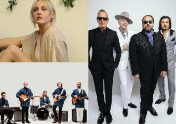 Clockwise from top left: Laura Marling, The Mavericks and Real Estate perform Thursday evening as part of Non-Comm 2017.