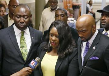 """Betty Shelby murdered my brother,"" Tiffany Crutcher, center, said after officer Shelby was acquitted in the death of Terence Crutcher."