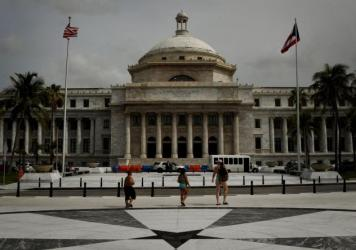 The El Capitolio de Puerto Rico, the Legislative House, is pictured on May 16, 2017 in San Juan, Puerto Rico, as the U.S. territory struggles under a mountain of debt. (Mark Ralston/AFP/Getty Images)