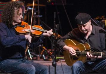 Martin Hayes and Dennis Cahill perform live on <em>Mountain Stage</em>.