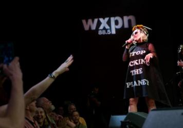 Blondie performs live at WXPN's Non-COMM 2017 in Philadelphia, Pa.