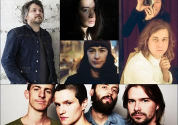 Clockwise from upper left: Jeff Tweedy, Mitski, Kevin Morby, Big Thief, Kate Stables of This Is The Kit