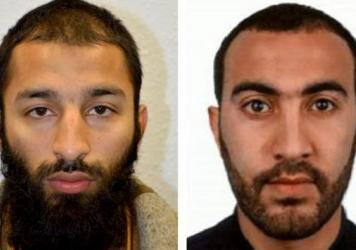 Khuram Shazad Butt (left) and Rachid Redouane were killed within minutes of Saturday's attack on London Bridge, British detectives say.