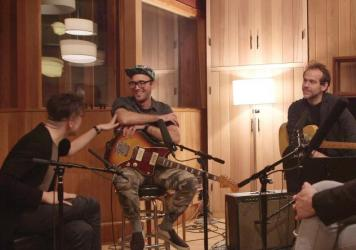 Nico Muhly, Sufjan Stevens and Bryce Dessner talking with NPR Music's Bob Boilen