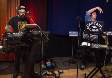 Chico Mann and Captain Planet perform live in the studio for KCRW.