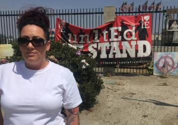 """Denise Zamora, organizer of Saturday's """"March Against Sharia"""" in San Bernardino, the site of the city's 2015 shooting."""