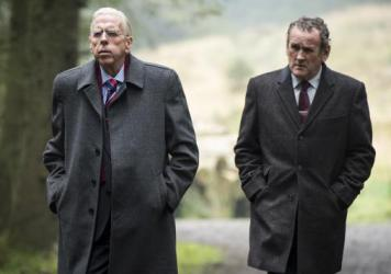 Ian Paisley (Timothy Spall) and Martin McGuinness (Colm Meaney) in <em>The Journey.</em>