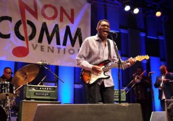 Robert Cray & Hi Rhythm, with Steve Jordan on drums, perform live at WXPN's 2017 Non-COMMvention in Philadelphia, Pa.