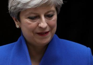 Prime Minister Theresa May leaves the prime minister's residence on Friday. This weekend, she has been seeking the support of the Democratic Unionist Party to form a new government after a disappointing result for Conservatives in Thursday's election.
