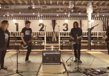 Slowdive plays a Field Recording at Royal Palms Shuffleboard Club in Brooklyn, N.Y.