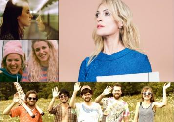 Clockwise from upper left: Gordi, Emily Haines, Guerilla Toss, Chastity Belt.
