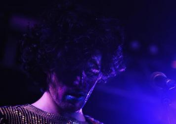 Ben Hopkins of PWR BTTM performs at the NPR Music showcase during SXSW on March 15, 2017 in Austin, Texas.