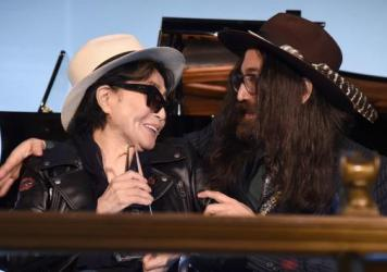 "Yoko Ono, accompanied by son Sean Lennon, accepted the Centennial Song award for ""Imagine"" at a National Music Publishers' Association event Wednesday in New York."