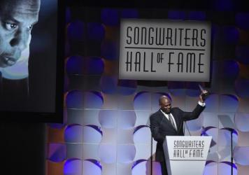 Warner/Chappell Music CEO Jon Platt accepts a Songwriter Hall of Fame award on behalf of Jay Z, the first rapper inductee, on June 15, 2017 in New York City.
