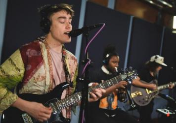 Hippo Campus perform inside the World Cafe studio for this session.