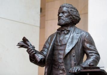 The Frederick Douglass Statue in Emancipation Hall at the U.S. Capitol in 2013. On July 3, the National Archives hosted a reading of Douglass' essay about the Fourth of July.