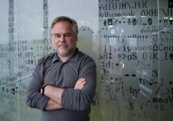 Eugene Kaspersky, founder and chief executive officer of Kaspersky Lab, at his office in Moscow last December. Kaspersky and his firm have ties to the Russian government but say that should not be cause for concern in the West, where the company's cybersecurity software is widely used.