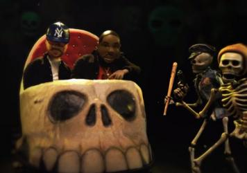 """A still from Run The Jewels' """"Don't Get Captured"""" video."""