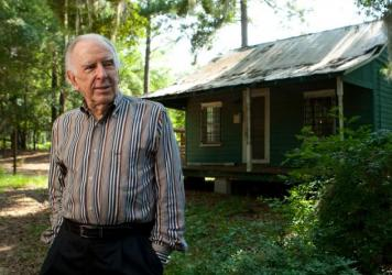 American composer Carlisle Floyd, photographed at his first home, in which he composed his best known opera, <em>Susannah</em>, in Tallahassee, Fla. in 2009.