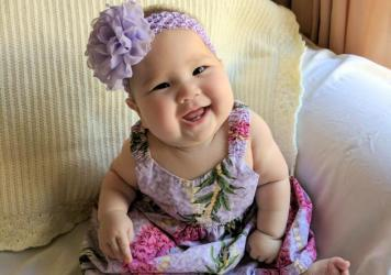 Clara Sunderland was recently born in southern California. Her mom, Wendy, says a breast-feeding support group on Facebook has been crucial to learning how to breast-feed.