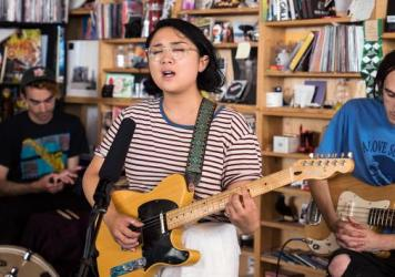 Jay Som performs a Tiny Desk Concert on June 7, 2017. (Liam James Doyle/NPR)