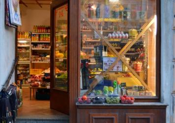 The outside of a grocery store in Prague, the capital of the Czech Republic. For years, governments and consumer advocates have been decrying what they call lower quality standards for packaged food available in Central and Eastern Europe, as compared wi
