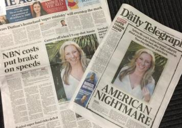 The death of Sydney's Justine Ruszczyk, who was shot dead by a Minneapolis police officer on Saturday, is front-page news in her native Australia.
