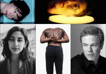Clockwise from upper left: Flotation Toy Warning, Ian Chang, Josh Ritter, Moses Sumney, Common Holly