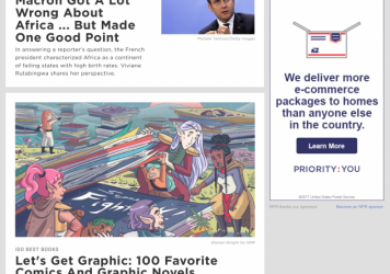 "A mock-up of the NPR.org homepage shows the proposed blue ""Opinion"" label more prominently displayed next to commentary and opinion pieces."