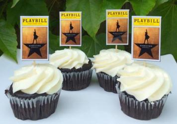<em>Hamilton</em>-inspired cupcake toppers. It was only a matter of time before fans of the Broadway hit sought out culinary tributes to their most treasured folk hero.