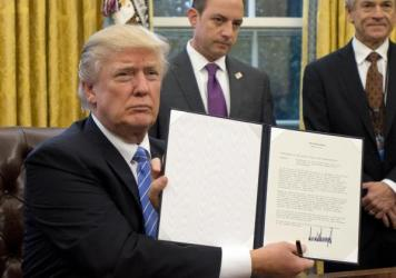 """President Trump holds an executive order in January imposing the """"Mexico City policy,"""" which bans federal funds going to overseas organizations that perform or """"promote"""" abortions. A fundraising effort initiated by a Dutch government minister has raised"""