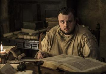Hackers claim to have stolen information related to HBO's <em>Game of Thrones, </em>allegedly including written material from an upcoming episode. HBO has confirmed a hack occurred, but not what information was acquired. Here, Samwell Tarly (John Bradley