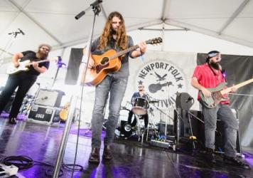 Brent Cobb performs at the 2017 Newport Folk Festival.