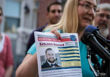 Mary Rich, the mother of slain DNC staffer Seth Rich, speaks at a press conference on Aug. 1, 2016. A lawsuit alleges Fox News and a wealthy Trump supporter intended to deflect public attention from growing concern about the administration's ties to the Russian government by concocting a story about Seth Rich's death.
