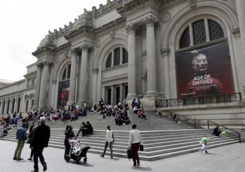 The Metropolitan Museum of Art in New York City has turned over an ancient vase to authorities after a warrant was issued for its seizure. Above, the museum in May.
