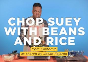 "Joaquin ""Jocko"" Fajardo makes a spicy Mexican version of chop suey, a classic American Chinese dish. He tells us how his great-aunt learned to make the dish from the Asian employees at her Mexican restaurant in Los Angeles."