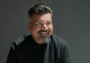 """George Lopez, who takes the stage at the Kennedy Center on Saturday in his new HBO comedy special, """"The Wall,"""" visited NPR's headquarters in Washington, D.C."""