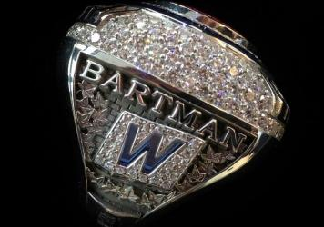 A 2016 World Series championship ring the Chicago Cubs said they were giving to Steve Bartman.