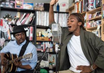 ALA.NI performs a Tiny Desk Concert on June 20, 2017. (Photo: Liam James Doyle/NPR)