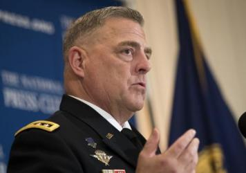 "Army Chief of Staff Gen. Mark Milley wrote, ""The Army doesn't tolerate racism, extremism, or hatred in our ranks. It's against our Values and everything we've stood for since 1775."""
