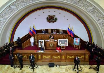 Venezuelan President Nicolas Maduro addresses the constituent assembly earlier this month. The group, which Maduro called for and which enjoys wide-ranging powers, granted itself the ability to pass laws.