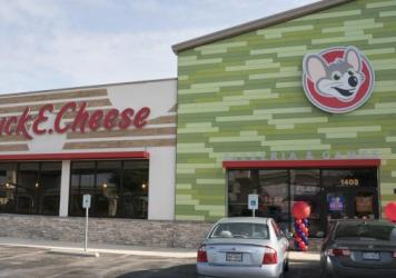 Chuck E. Cheese's recently renovated San Antonio restaurant. The chain has plans to update its look inside and out — and will retire its (animatronic) house band.